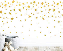 Amazon Com Gold Stars Wall Vinyl Decal Decor Nursery Adhesive Star Stickers For Kids Baby Nordic Stars Bedroom Decoration Arts Crafts Sewing