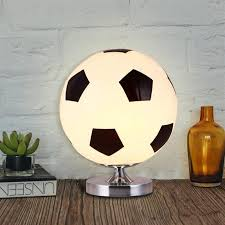 2020 Football Table Lamp Modern Glass Lampshade With Metal Base Creative Soccer Bedroom Bedside Lamp For Kids Room Decoration Lighting Fixture From Shenzhen2005 32 47 Dhgate Com
