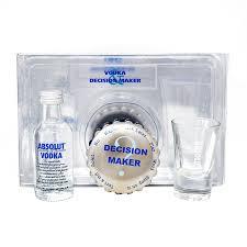 absolut vodka decision maker gift set