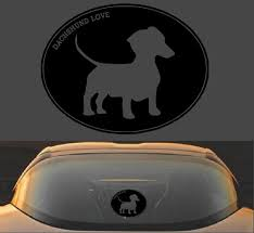 Dachshund Love Decal Sticker Doxy Decals Car Stickers Decalexpo