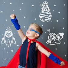 Monkeys In Space With Stars Rocket Ships Vinyl Wall Decal Sticker For Boys Room The Decal Guru