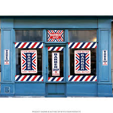 Barber Shop Stripes Peel And Stick Outdoor Vinyl At Retro Planet