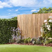 Waltons Thick Natural Bamboo Fencing Screening Garden Gear