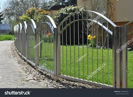 Metal Fence Highgrade Steel Surrounding House Industrial Stock Image 1087986200