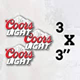 Amazon Com Coors Powered Racing Decals Stickers 3 Inches Long Size Vintage Set Of 2 Automotive