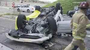 SUV crashes off freeway overpass ...