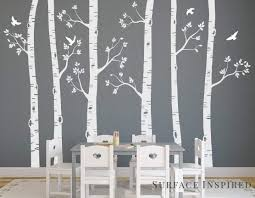 Amazon Com Large Birch Tree Wall Decals From Surface Inspired 6 Trees Included 1021 Handmade