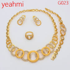 dubai gold jewelry sets