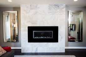 good looking marble tile fireplace