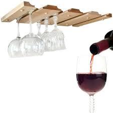 under cabinet wine glass rack wood