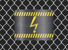 Wire Fence And Voltage Sign Stock Vector Crushpixel