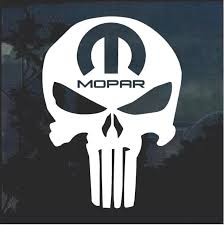 Punisher Skull Mopar Jeep Decal Stickers Aftermarket Replacement Non Factory Custom Sticker Shop