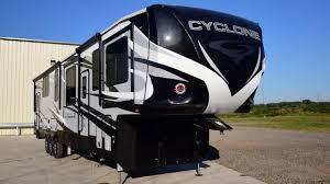 2020 cyclone 4214 hidden garage with a