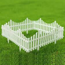 Sungmor Pack Of 4 Garden Picket Fence 96 Inch Plastic White Edgings For Sale Online