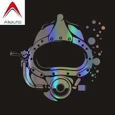 Aliauto Personality Car Sticker Scuba Diver Diving Mask Automobiles Accessories Vinyl Decal For Subaru Golf 4 Peugeot 15cm 14cm Car Stickers Aliexpress