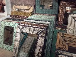 repurposed tin ceiling tiles at olde