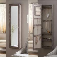wall jewelry armoire rustic full length