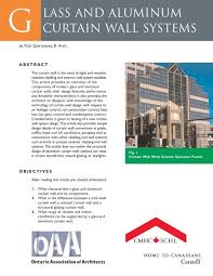 l and aluminum curtain wall systems