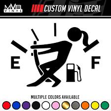 Amazon Com Low Gas Girl Vinyl Decal Funny Car Truck Sticker Fuel Gauge Empty Stickman Fuel Door Handmade