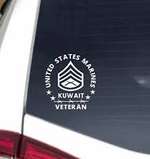 Marine Corps Decal Kuwait Veteran Staff Sergeant Usmc Etsy