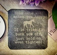 horse themed inspirational coaster