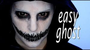 easy ghosts halloween makeup tutorial