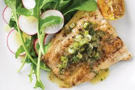 Whiting with lemon dill sauce
