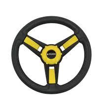 Gussi Model 13 Black Yellow Steering Wheel For Ezgo Star Golf Carts Walmart Com Walmart Com