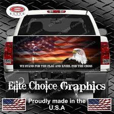 Stand For The Flag Truck Tailgate Wrap Vinyl Graphic Decal Etsy