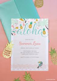 Luau Party Invitations Temas Para Fiestas Invitaciones