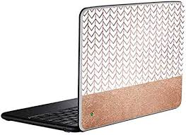 Amazon Com Skinit Decal Laptop Skin For Chromebook Officially Licensed Originally Designed Rose Gold Herringbone Design Electronics