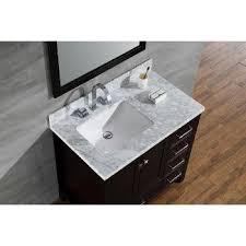 single basin vanity with left