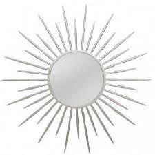 sunburst wall mirror set decorating