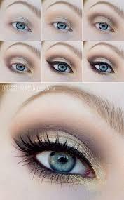 subtle makeup for blue eyes and blonde