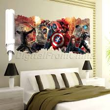 3d The Avengers Wall Sticker Body Bedroom Home Decor Boys Gift Mural Art Decals Wall Stickers Home Decor Wall Decor Stickers Kid Room Decor