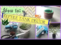 diy reptile tank decor you