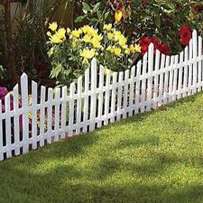 24 White Flexible Plastic Garden Picket Fence Lawn Grass Edge Edging Border 48ft Buy At A Low Prices On Joom E Commerce Platform