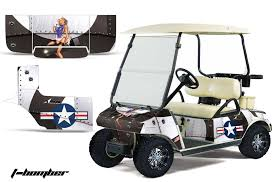 Club Car Precedent Golf Cart Graphics T Bomber White Golf Cart Graphic Decal Kit Golf Cart Graphic Kits Graphic Kits
