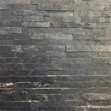black slate wall stone cladding