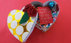 how to make a heart shaped gift box