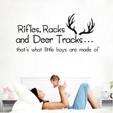 Rifles Racks And Deer Tracks That S What Little Boys Are Made Of Wall Decals Vinyl Quote Lettering Words Quote Baby Boy Wall Decals Kids And Nursery Boys Wall Decals