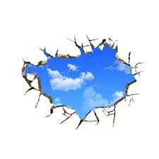 3d Blue Sky Broken Ceiling Removable Wall Stickers Art Vinyl Decal Decor New 1