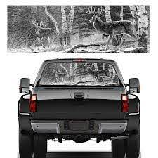 22 X65 Rear Window Graphic Decal Forest Animals Deer Hunting Rear Window Sticker For Truck Suv Jeep Car Stickers Aliexpress