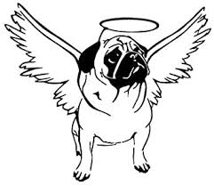 Amazon Com Personalized 15cm X 13cm Pug Dog Angel Wings Cute Puppy Car Decal Color Black Sports Outdoors