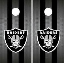Oakland Raiders Cornhole Wrap Nfl Team Flag Game Skin Set Vinyl Decal Co106 Ebay