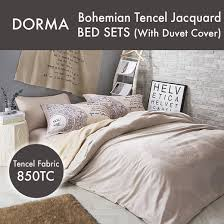 dorma loretta bohemian jacquard tencel