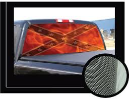 Dixie Rebel Flag 16 X 54 Rear Window Graphic Confederate Compact Pickup Truck Tint View Thru Vinyl Maria Beckerwa