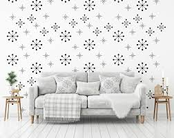 Atomic Starburst Decal Snowflake Wall Decor Wall Star Graphics