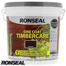 Buy Ronseal One Coat Timbercare Dark Oak 9 Litre At Home Bargains