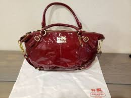 coach 19629 madison lace navy leather